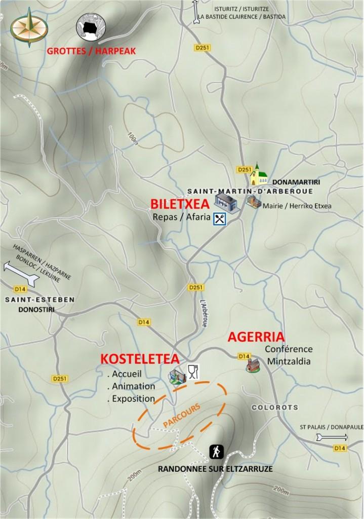 Plan championnat européen tir arc et propulseur préhistorique Saint Martin d'Arberoue Espace culturel Isturitz Oxocelhaya