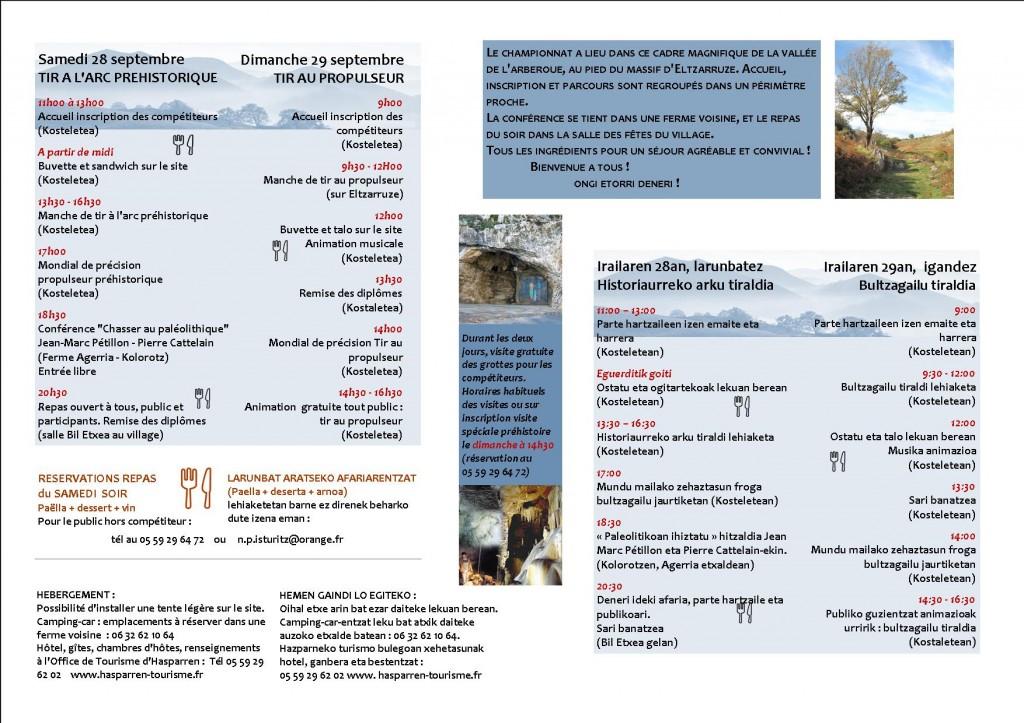 Programme Championnat sept2013-2